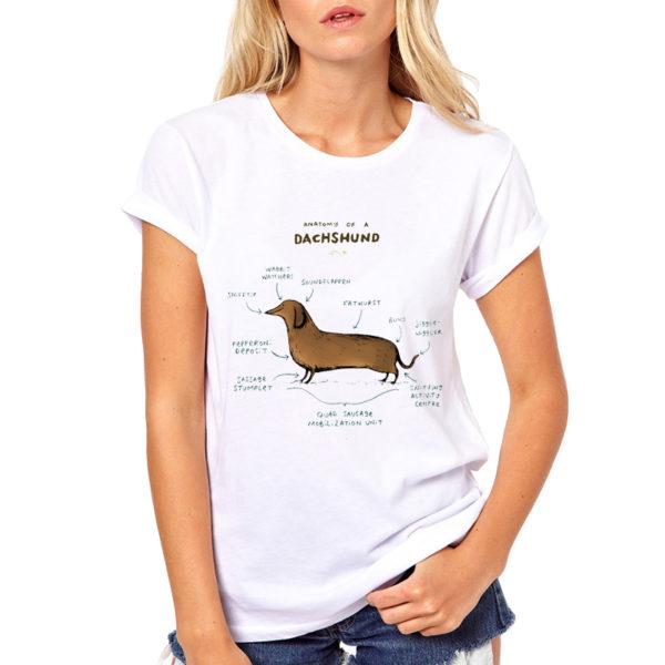 Dachshund Anatomy T Shirt Doxiefanworld